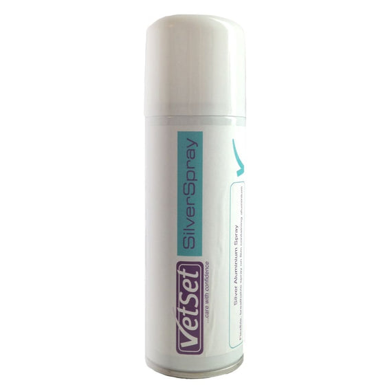Vetset Aluminium Silver Spray 200ml - Silver Spray