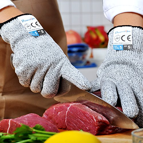 Dowellife Cut Resistant Gloves Food Grade Level 5 Protection, Safety  Kitchen Cuts Gloves for Oyster Shucking, Fish Fillet Processing, Mandolin  ...