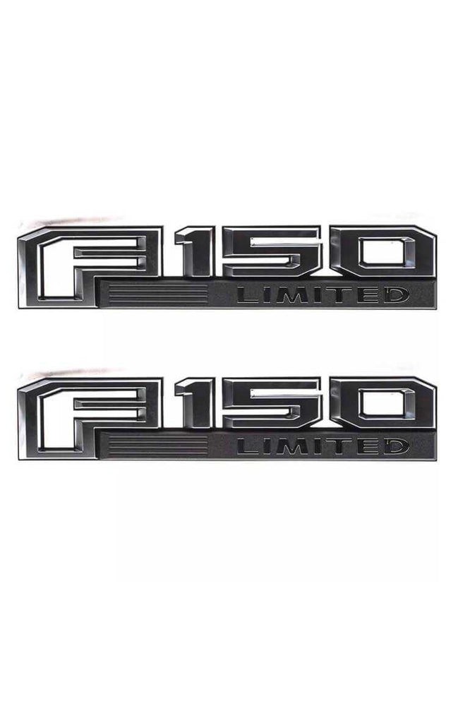 2015-2020 Ford F-150 Limited Fender Emblem Set Factory Black/ Chrome