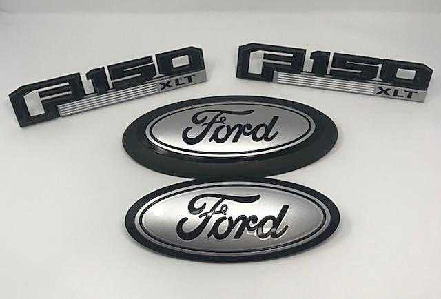 2015-2020 Ford F-150 LARIAT Custom Painted Grille Oval/ Tailgate Oval / Fender Emblem Set
