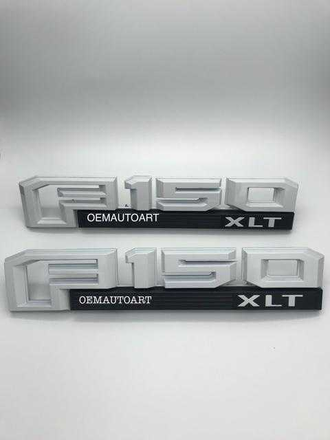 2015-2019 Ford F-150 Fender Emblem Set XL/STX/XLT/LAR/PLAT/LTD-All Colors - OEMAUTOART