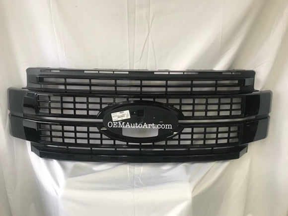 2017-19 Custom Ford F-Series F-250/ F-350/ F-450/ F-550 Super Duty Platinum Grille Custom Painted | OEMAUTOART