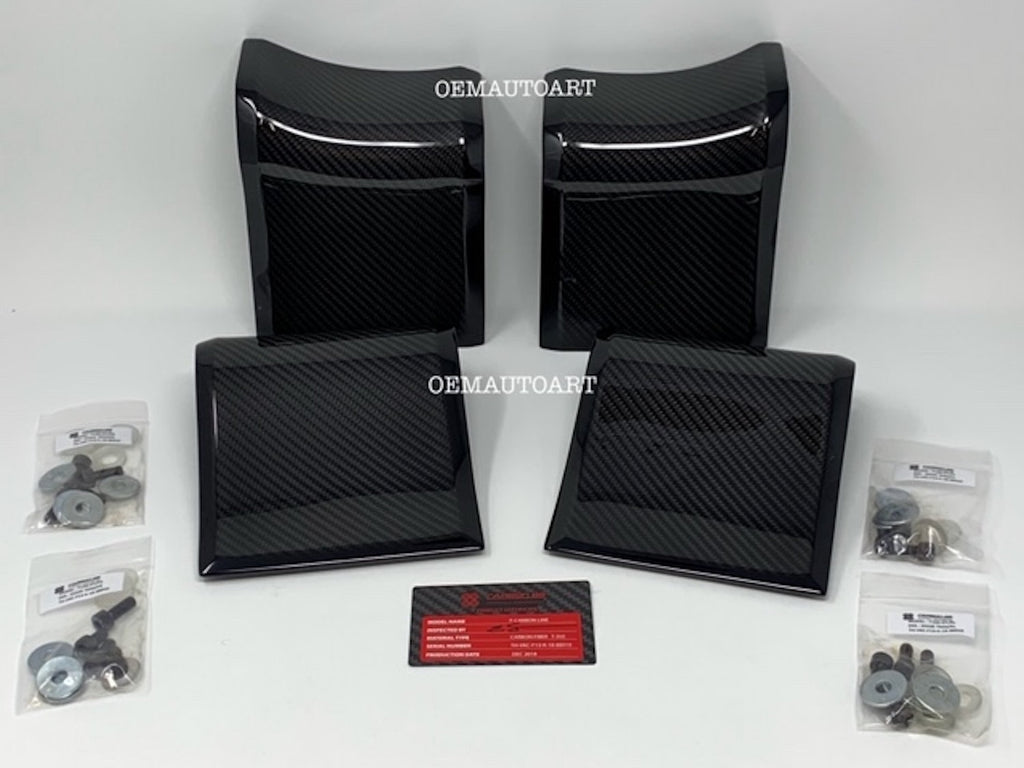 Ford F150/ Raptor/ Super Duty Crew Cab Real Carbon Fiber 88 Door Trim Inserts 2015-2019 Ford F-150/ 2017+ Raptor/ 2017-2019 Super Duty | OEMAUTOART