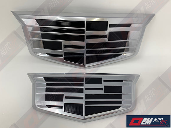 OEM 2015.5-2020 Cadillac Escalade/ ESV Grille & Hatch Emblem Set Custom Painted | OEMAUTOART