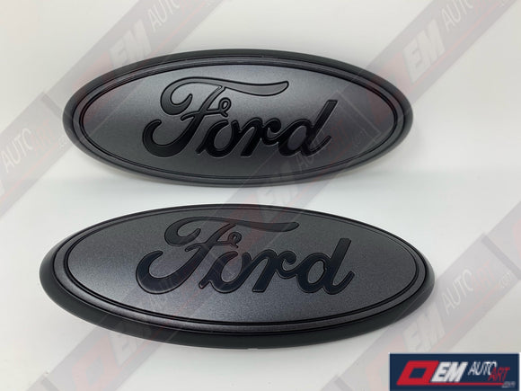 2016-2019 Ford Explorer Custom Painted Grille & Hatch Oval using OEM Parts- Flat Black/ Flat Magnetic (J7) | OEMAUTOART