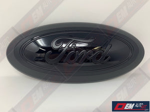 2015-2020 Ford Genuine Parts F-150 Custom Painted Grille Oval- Flat Black / Gloss Black | OEMAUTOART