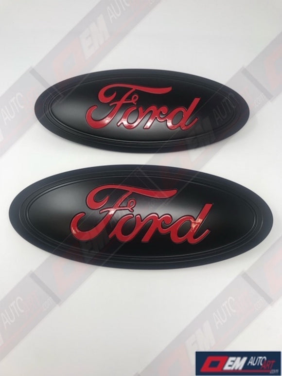 2015+ Ford Genuine Parts F-150 Custom Painted Grille/ Tailgate Oval- Semi Gloss Black/