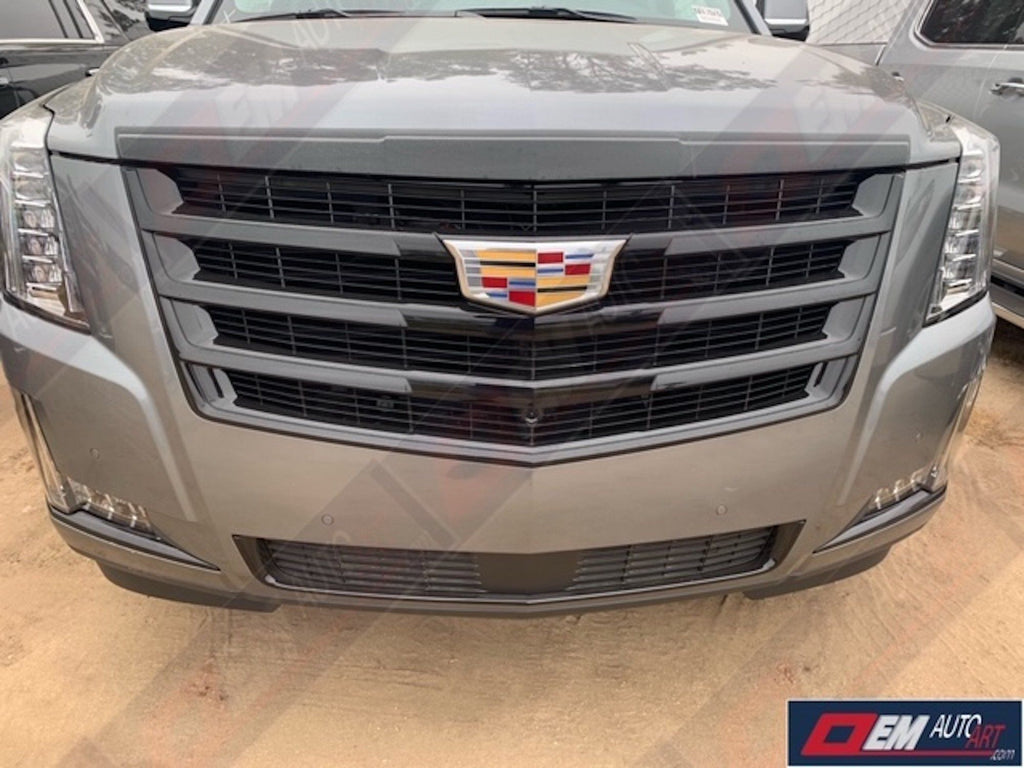 OEM 2015.5-2020 Cadillac Escalade/ ESV Black Sport Grille with Custom Painted Grille & Hatch Emblem Set Custom Painted in Cadillac Colors | OEMAUTOART