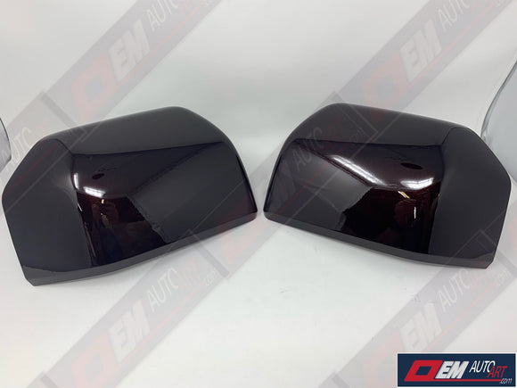 2015+ Ford Genuine Parts F-150 Custom Painted Mirror Cap Set (RH/LH)- Magma Red (E2)