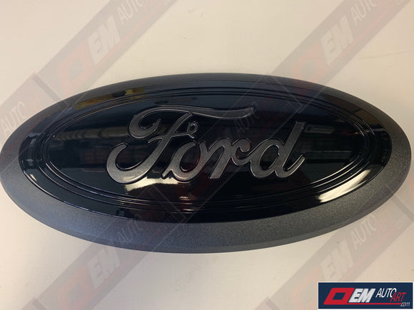 2015-2016-2017-2018-2019 Ford Genuine Parts F-150 Custom Painted Grille Oval- Gloss Black/ Ford Script Gloss Magnetic (J7) | OEMAUTOART