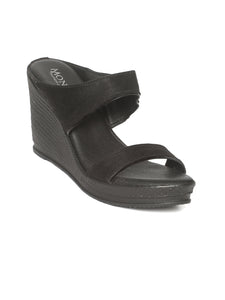 Aubrianna Black Wedge Heel