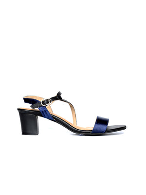 Liberty Blue Block Heel
