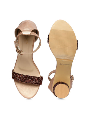 Emmy Rose Gold Block Heel
