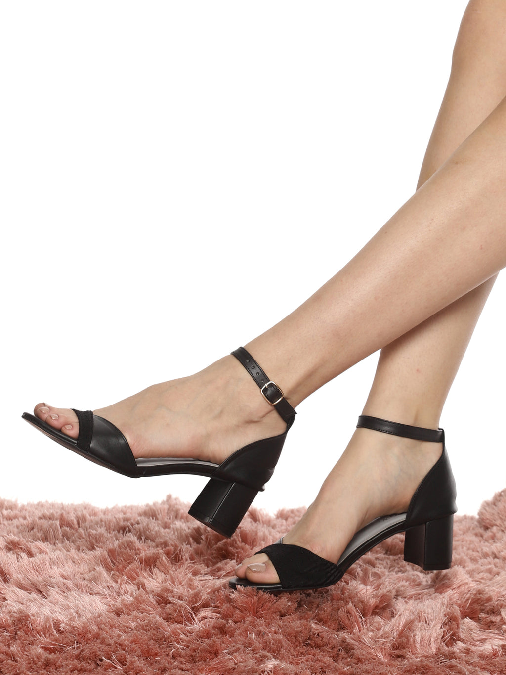 Melina Black Block Heel