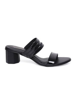 Lilith Black Block Heel