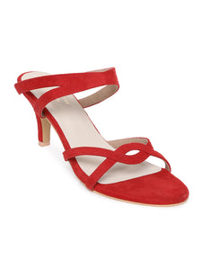 Itzel Red Kitten Heel