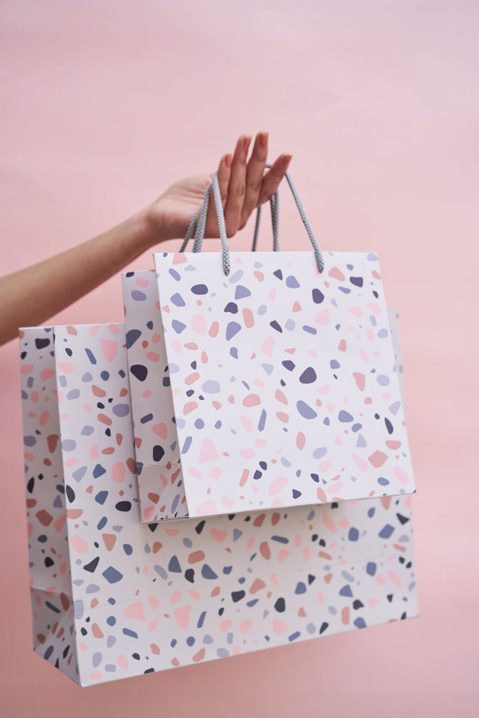 Freckled Terrazzo Gift Bags