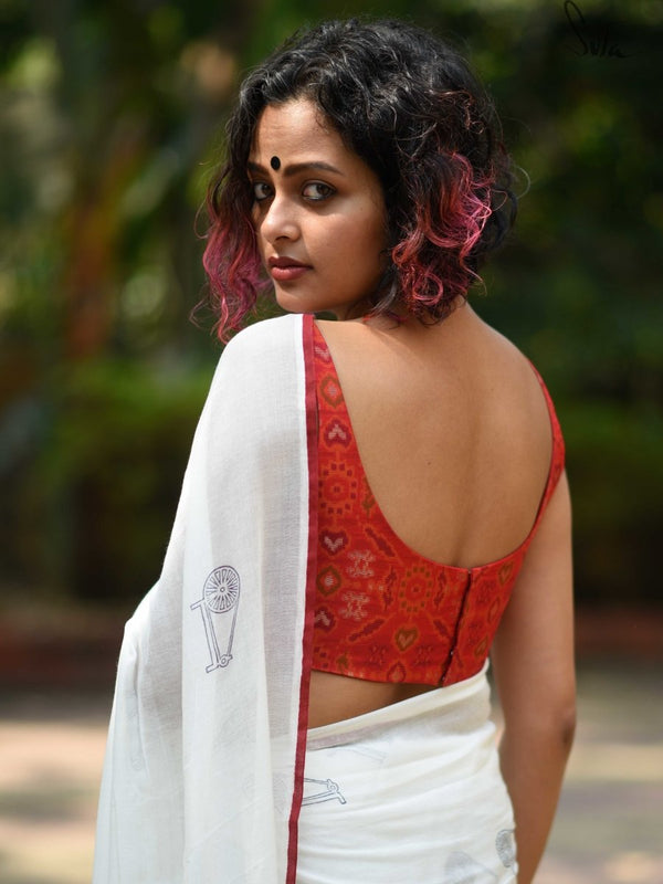 Rang De Laal (Blouse) - suta.in