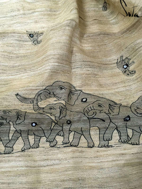 Tusks and trunks ( Dupatta ) - suta.in