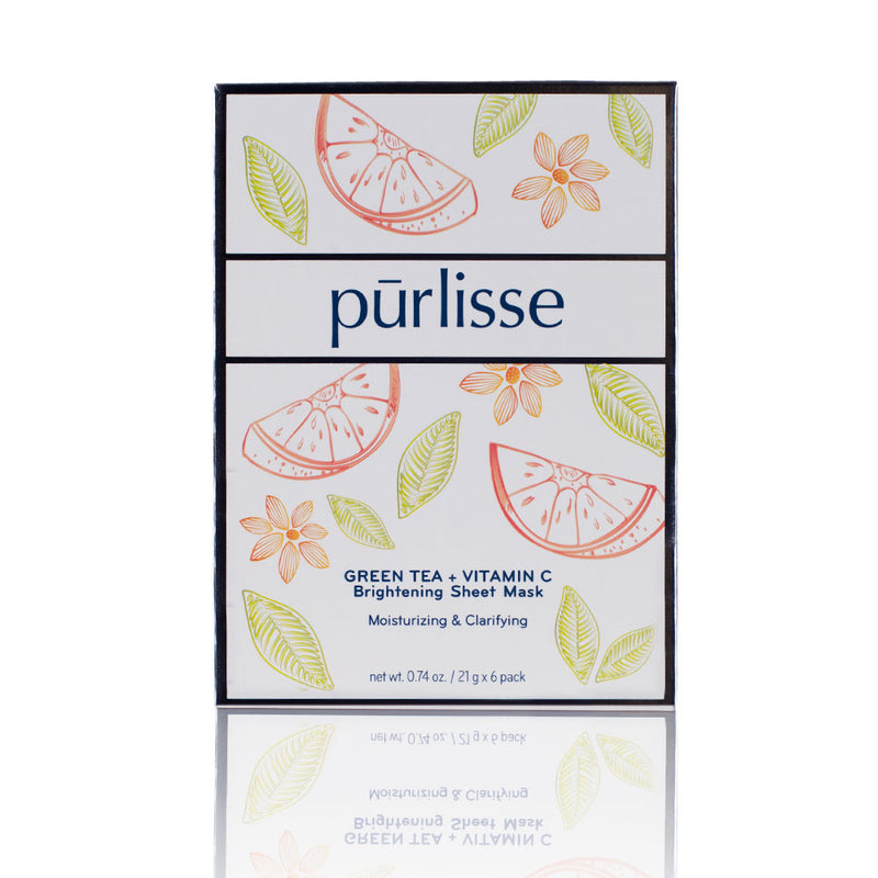 Purlisse Green Tea + Vitamin C Brightening Sheet Mask