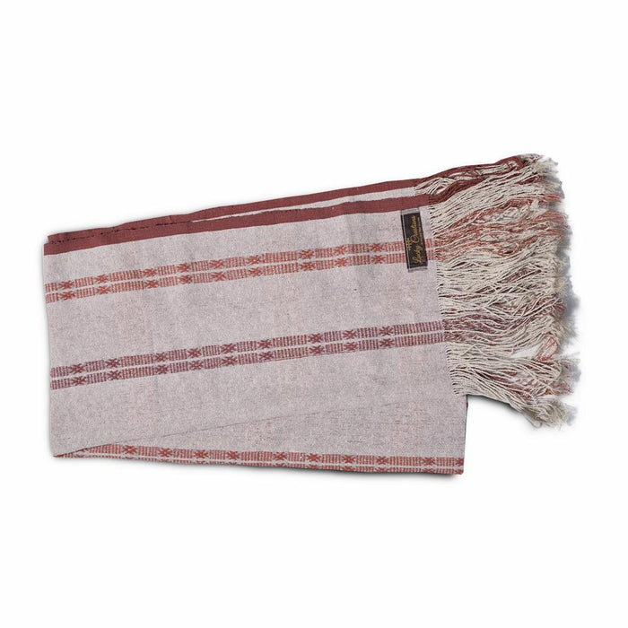 Raw silk Shawl (Maroon Pattern)