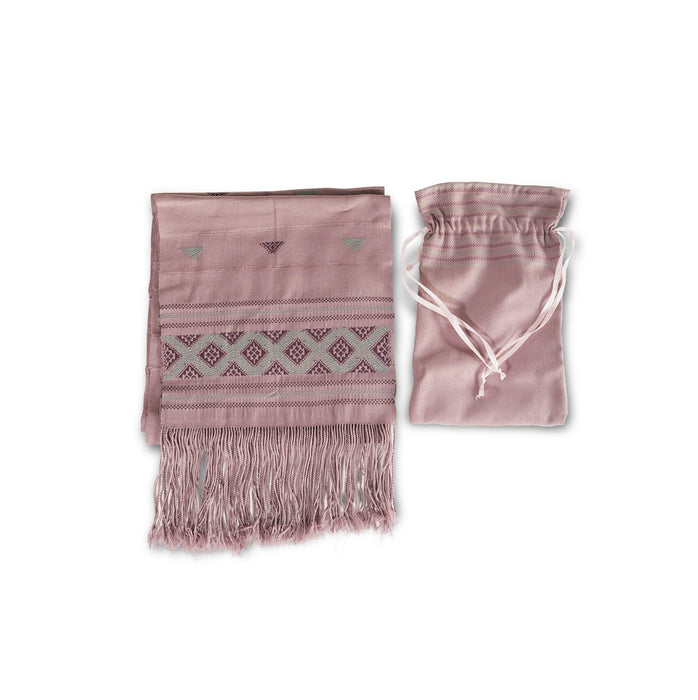 Scarf & Pouch (Pink Pattern)