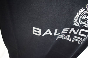 BALENCIAGA PARIS OVERSIZED LAUREL TEE black - 594579TGV601000