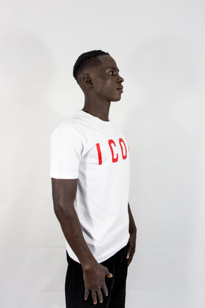 DSQUARED2 Icon Print T-Shirt White/red Code: S74GD0601
