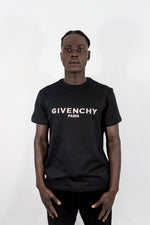 GIVENCHY PARIS EMBOSSED T-SHIRT - BLACK - BM70WV3002-001