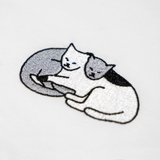 EMBROIDERED T-SHIRT CATS IN LOVE