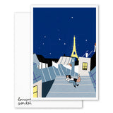 PARISIAN LOVERS BIG CARD