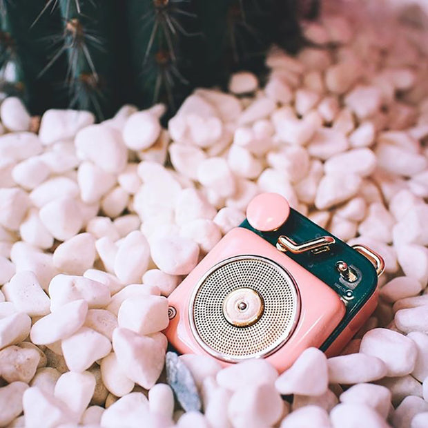 MUZEN Button Cotton Candy Mini Portable Wireless Bluetooth Speaker,Vintage Gift for Birthday and Holiday 1
