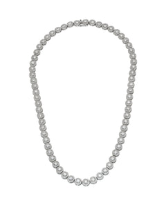 Solitaire Diamond Cluster Chain