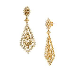 Graduated Diamond Chandelier Earrings