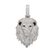 Fully Iced Lion Head Pendant