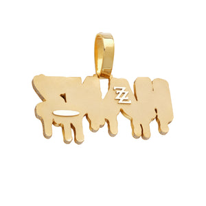 4 Character Beveled Drip Letters Pendant