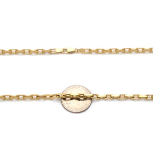 Cable Link Yellow Gold Chain