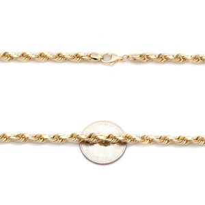 Rope Link Yellow Gold Chain