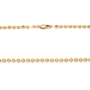 Moon Cut Yellow Gold Chain