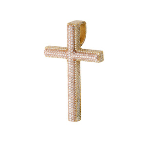Duo Tone Diamond Cross