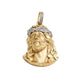 Diamond Jesus Head Pendant