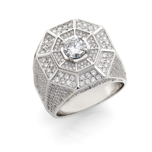 Octagon Diamond Ring