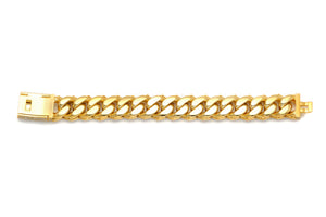 4 Row Diamond Prong Set Cuban Link Bracelet