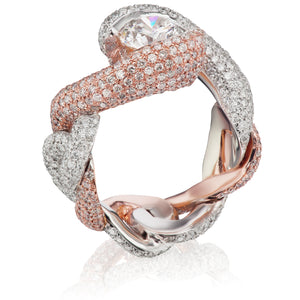 Braided Pressure Set Diamond Ring