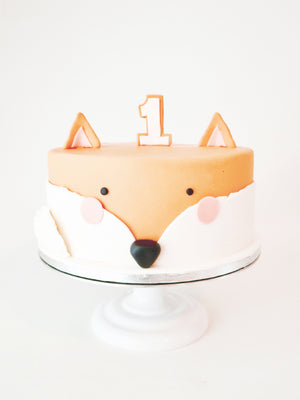 Fox Celebration Theme Cake by Studio Happy Story