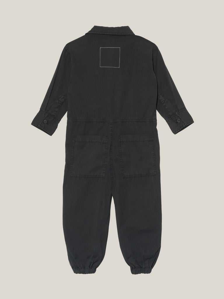 Kids' Black Shirtweight Boilersuit