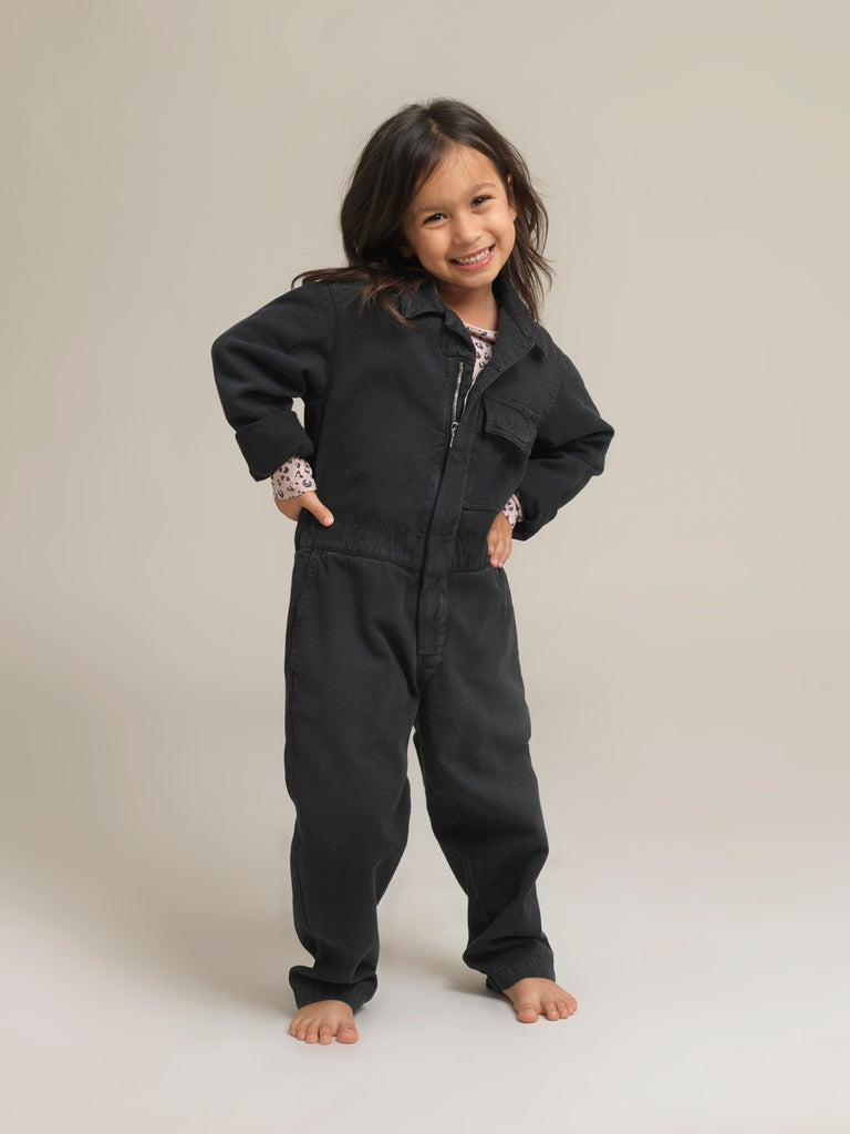 Children's Black Twill Canvas