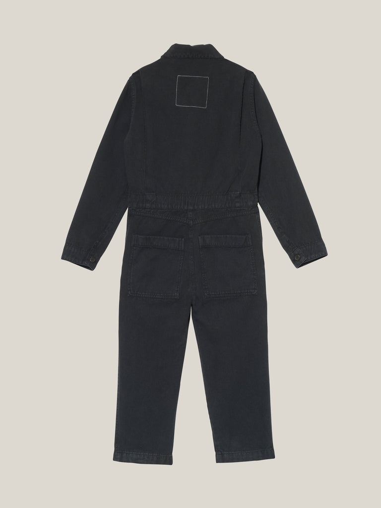 Toddler's Black Twill Canvas 1.5–3 Years