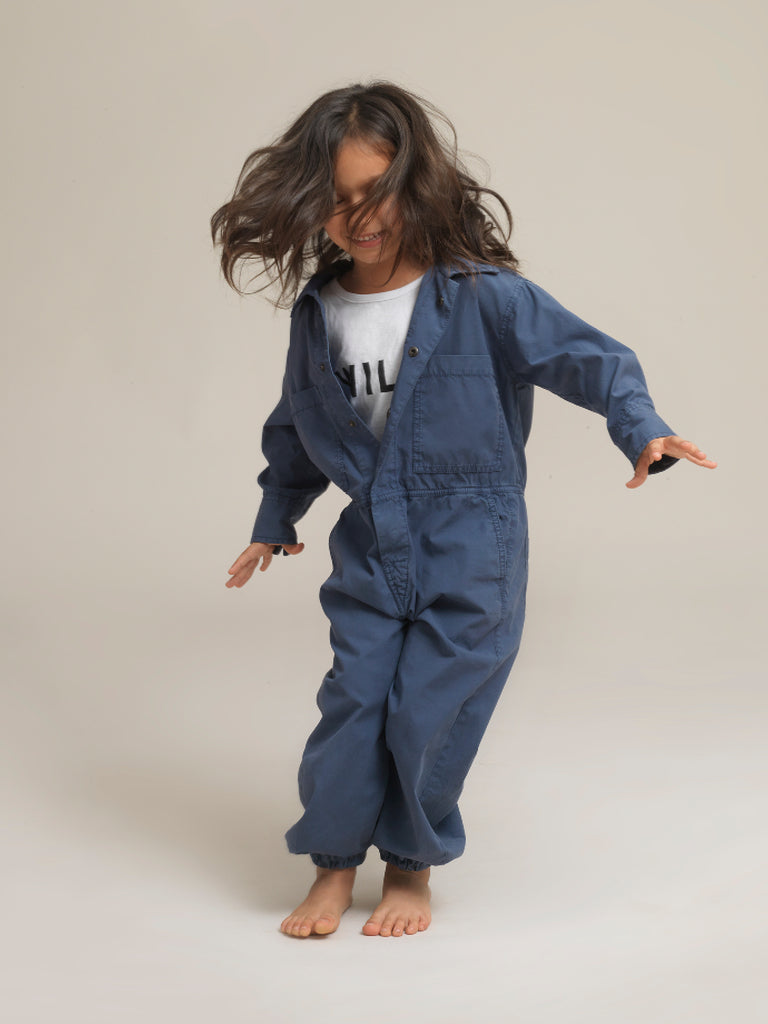 Kids' Blue Shirtweight Boilersuit