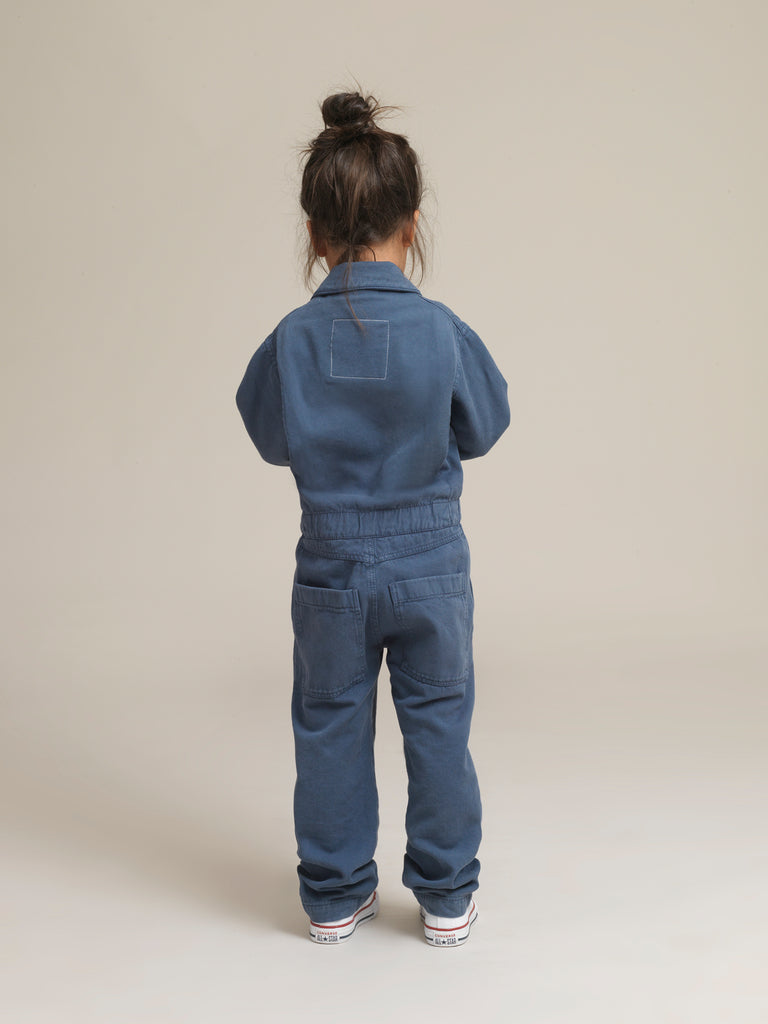 Kids' Blue Twill Boilersuit